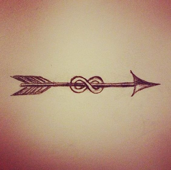 Beautiful Arrow Tattoo Design With Infinity Sign
