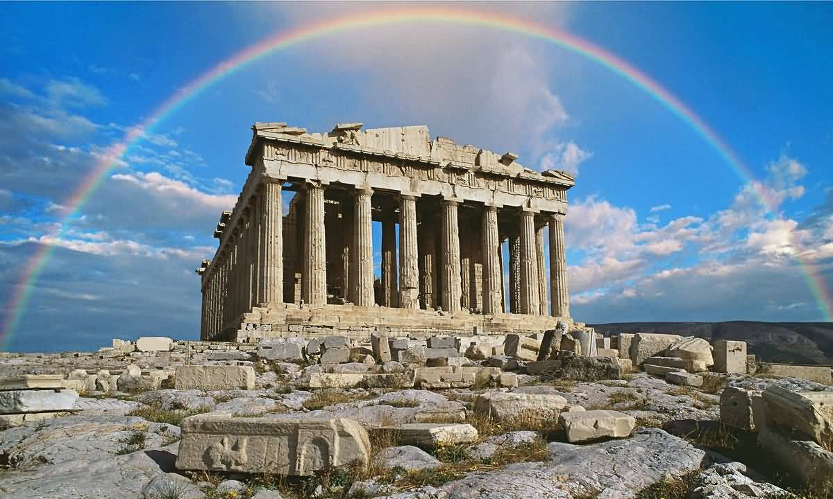 Aerial view of the parthenon temple in athens greece for The idea of space in greek architecture