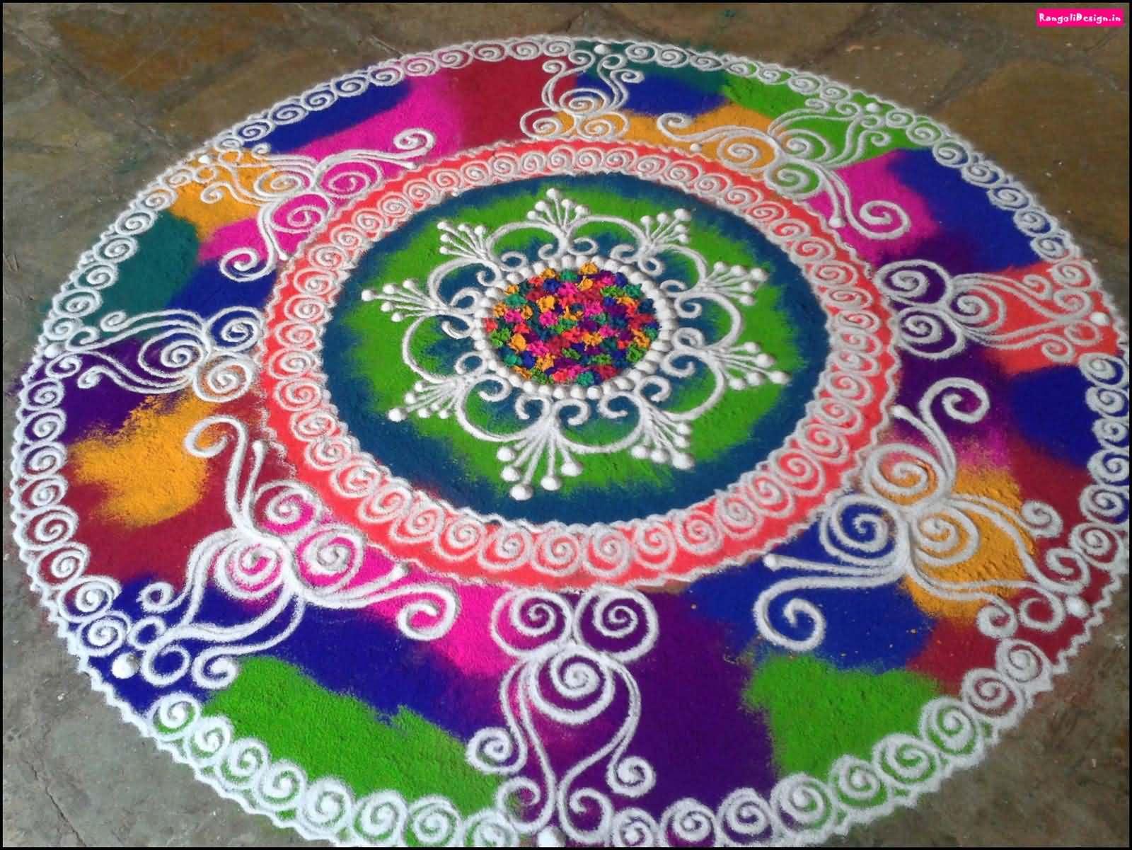 35 best diwali decoration ideas pictures for Home rangoli designs