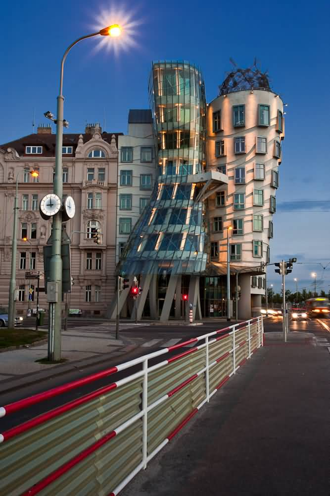 Beautiful View Of The Dancing House In Prague