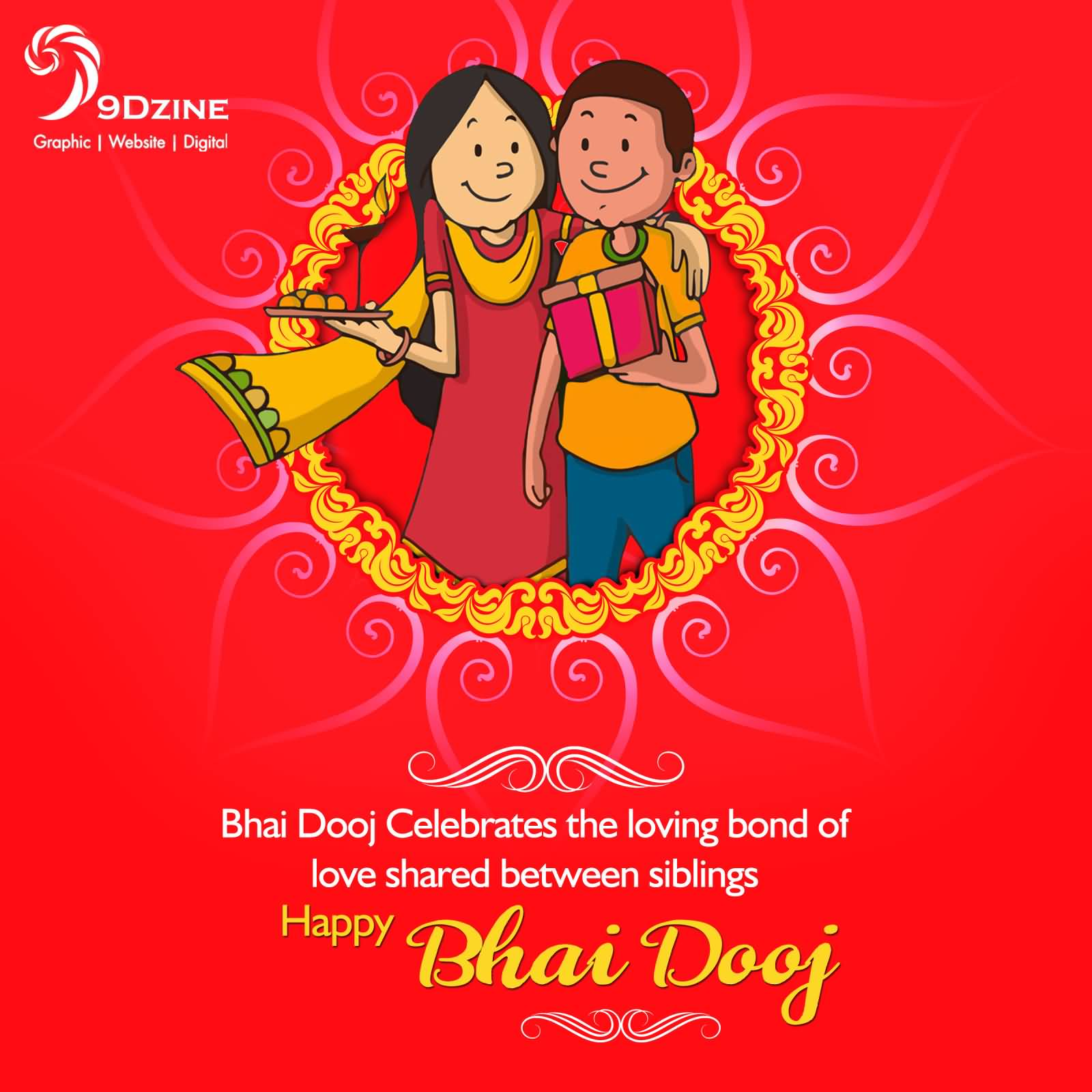 Bhai dooj celebrates the loving bond of love shared between siblings bhai dooj celebrates the loving bond of love shared between siblings happy bhai dooj greeting card m4hsunfo