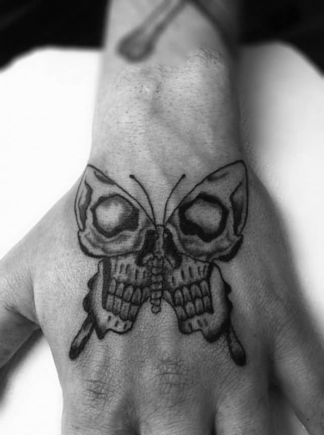butterfly skull tattoo on hand rh askideas com butterfly skull tattoo images butterfly skull tattoo images