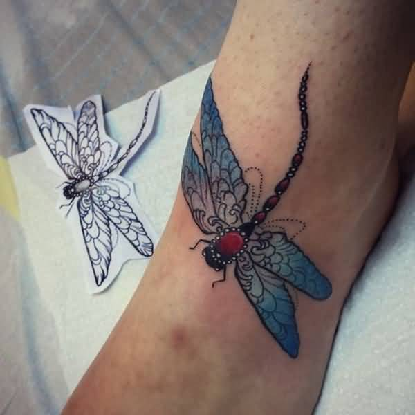 80 best dragonfly tattoo designs and meaning. Black Bedroom Furniture Sets. Home Design Ideas