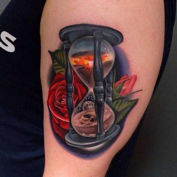 hourglass tattoo design ideas  meaning