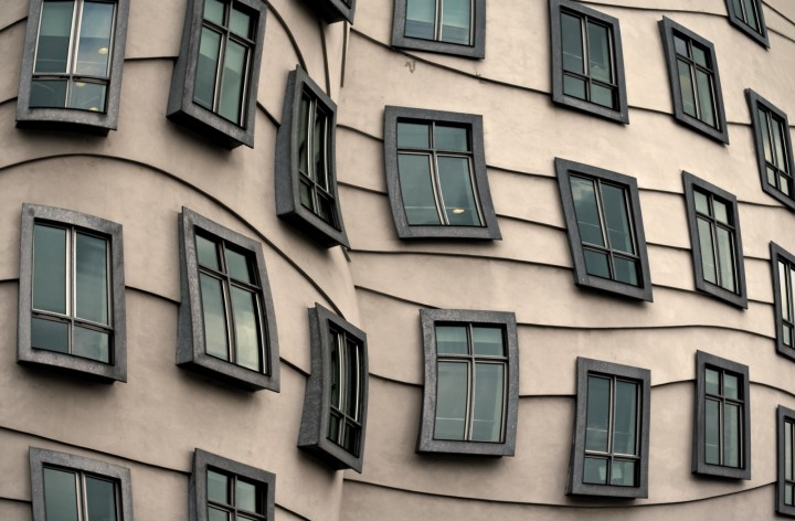 Details Of The Windows Of The Dancing House