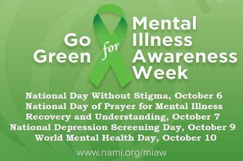Go Green For Mental Illness Awareness Week World Health Day