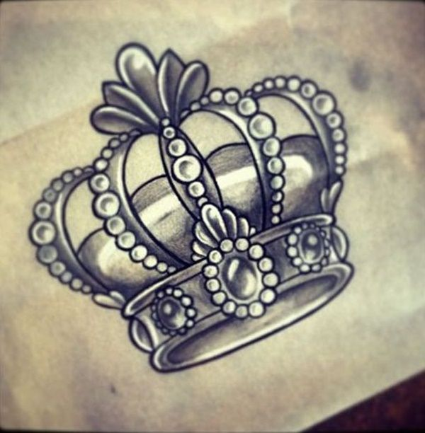 gray crown tattoo design idea - Tattoo Design Ideas