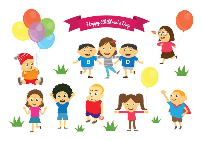 Happy Children's Day Kids Cartoon Picture