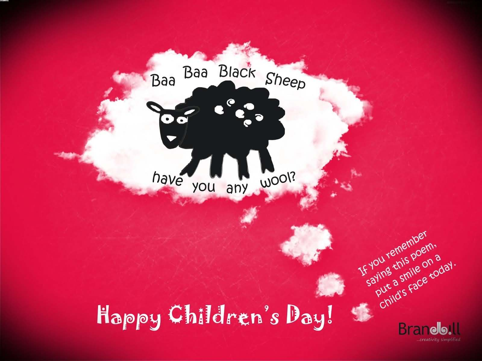 Happy Childrens Day Black Sheep Wallpaper