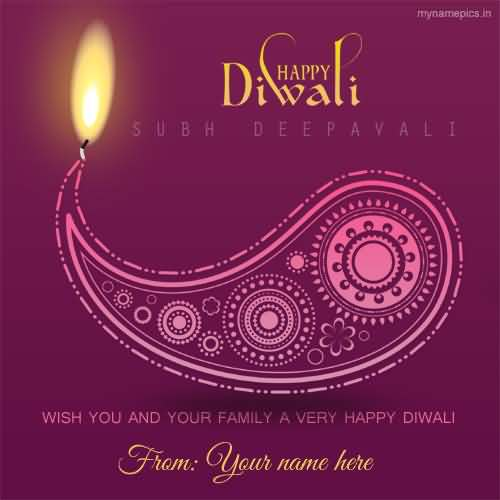 Happy diwali subh deepavali greeting card m4hsunfo