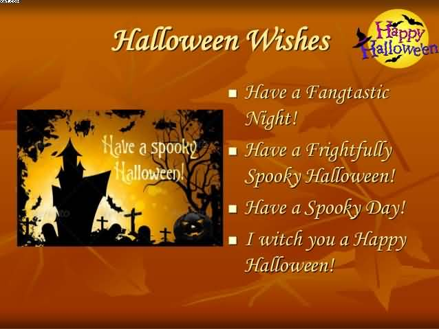 Marvelous Happy Halloween Wishes Greeting Card