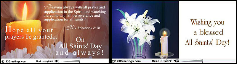 60 most amazing all saints day greeting pictures and images hope all your prayers be granted on all saints day and always greetings header image m4hsunfo