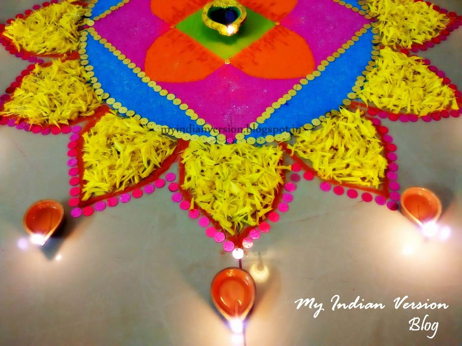 35 best diwali decoration ideas pictures for Indoor diwali decoration