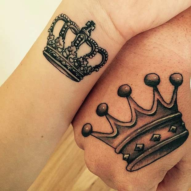 70 best crown tattoo design ideas