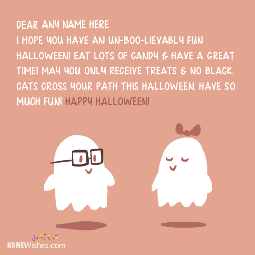 Lovely Halloween Wishes Card