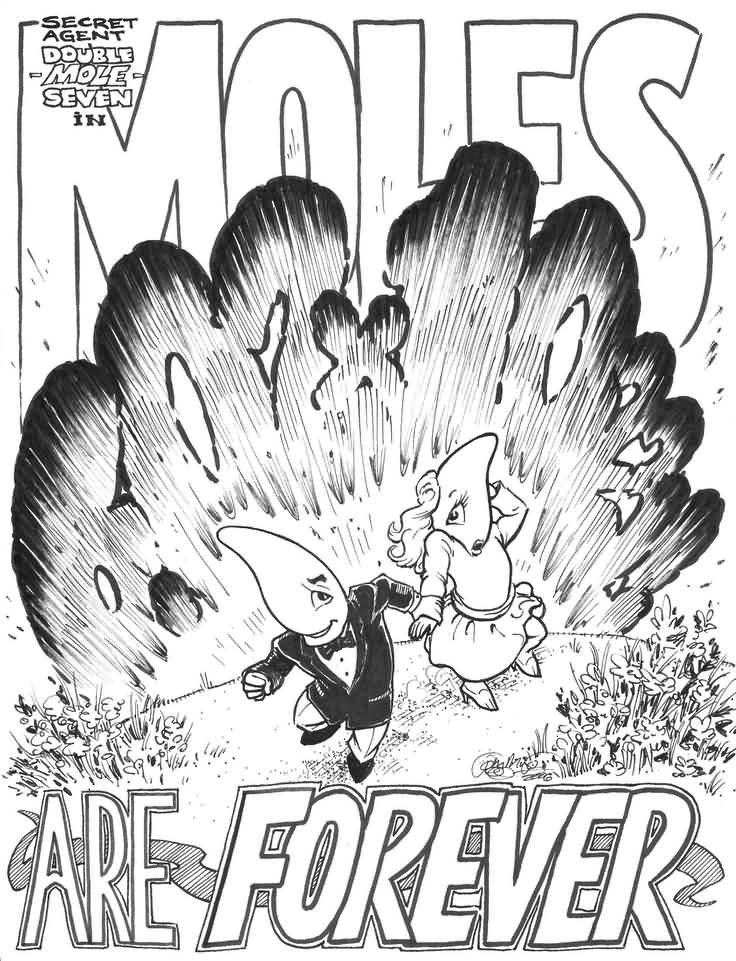 Moles are forever happy mole day poster for Mole day coloring pages