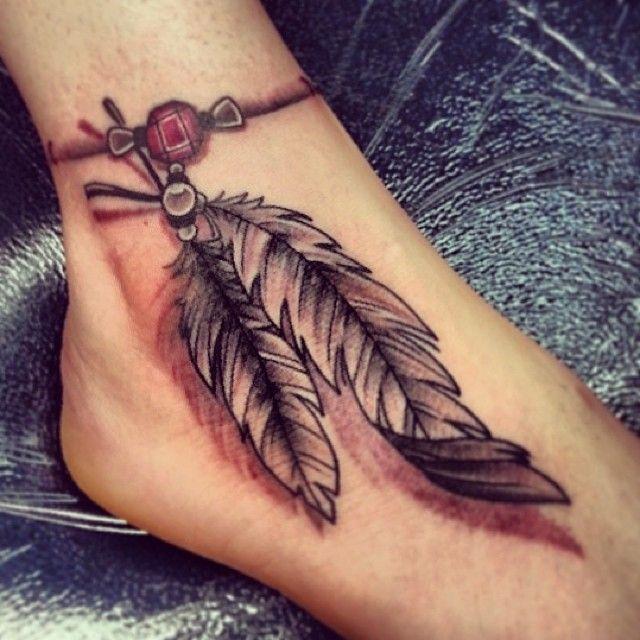 40 Beautiful Bracelet Tattoos For Men Women: 40+ Most Beautiful Feather Tattoo Design Ideas