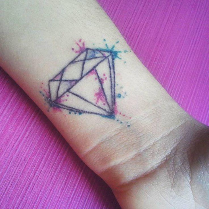 50 most beautiful diamond tattoo design ideas for Splash color tattoo