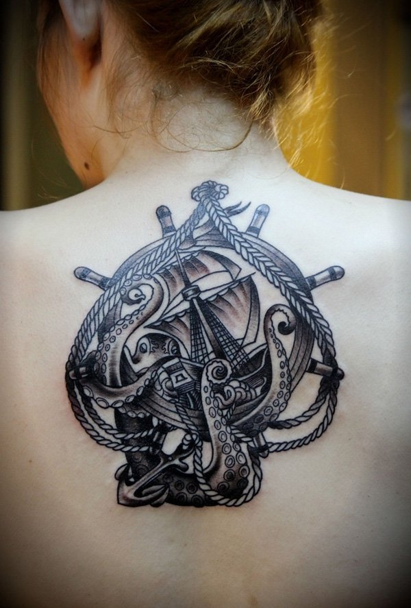 Sailor Octopus Tattoo