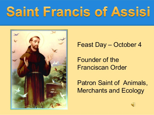 Image result for st francis of assisi feast day