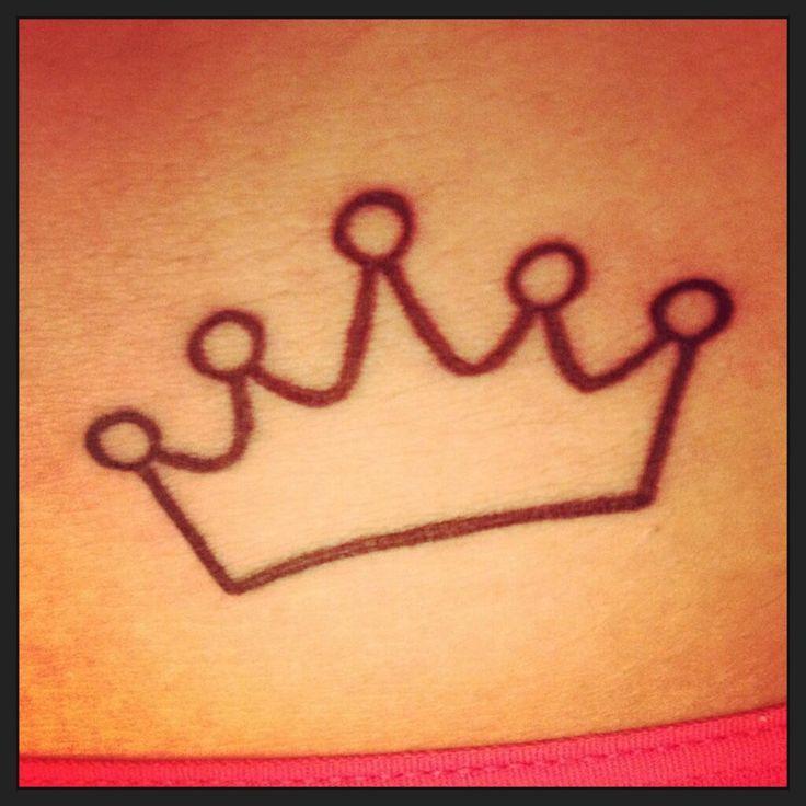 simple princess crown tattoo closeup. Black Bedroom Furniture Sets. Home Design Ideas