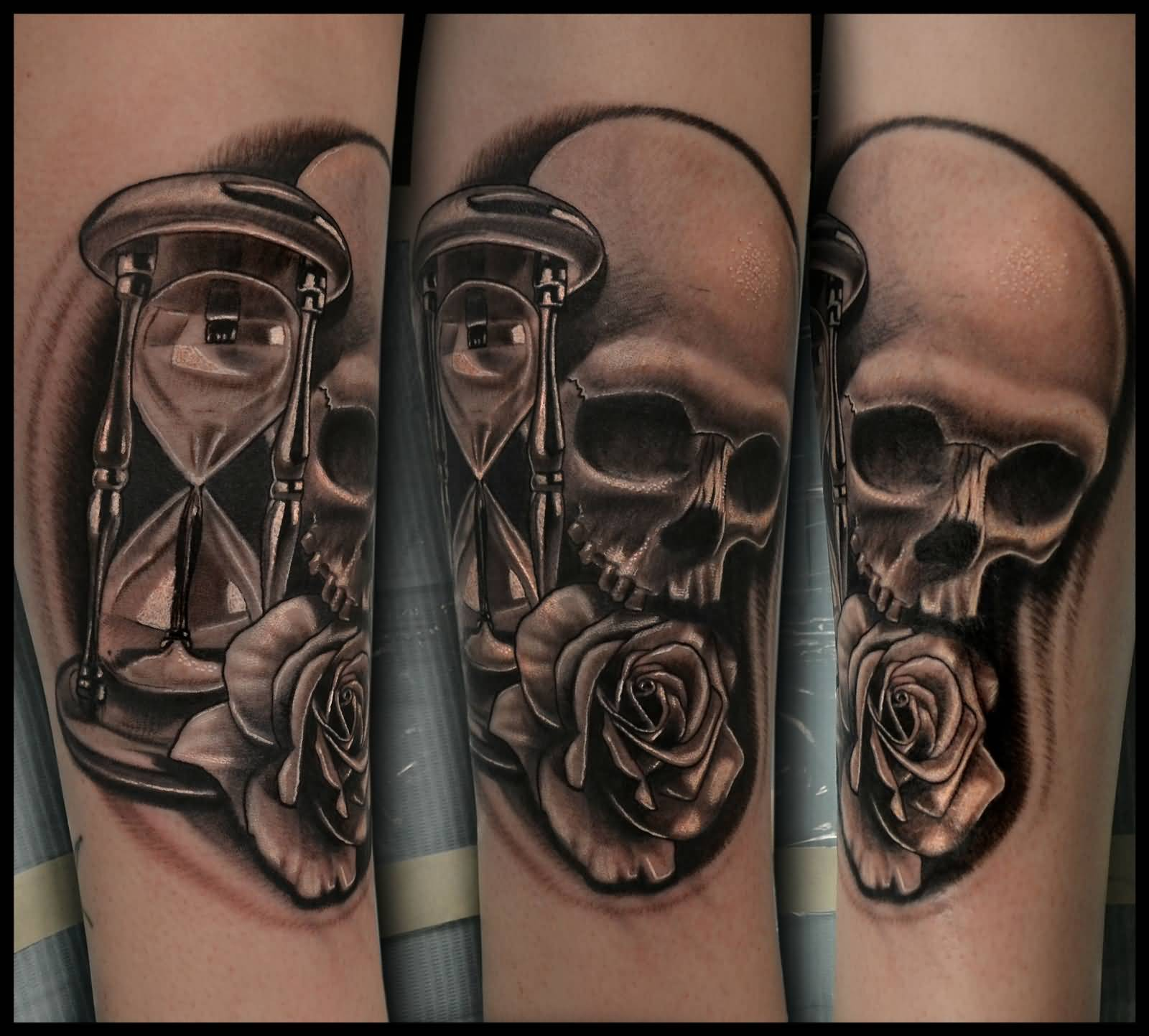 62 best hourglass tattoo design ideas with meaning for Skull hourglass tattoo