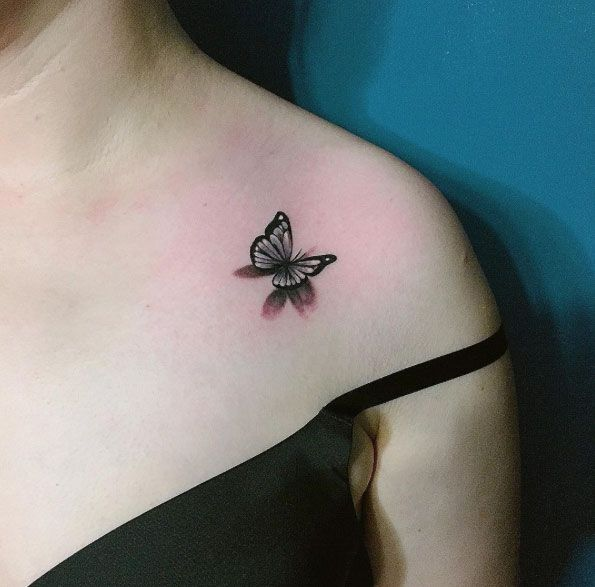 2a0fcfb93 Small 3d Butterfly Tattoo