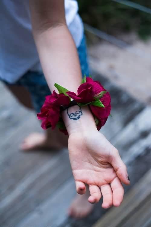 c1a8f2b8f Small Skull Tattoo On Wrist