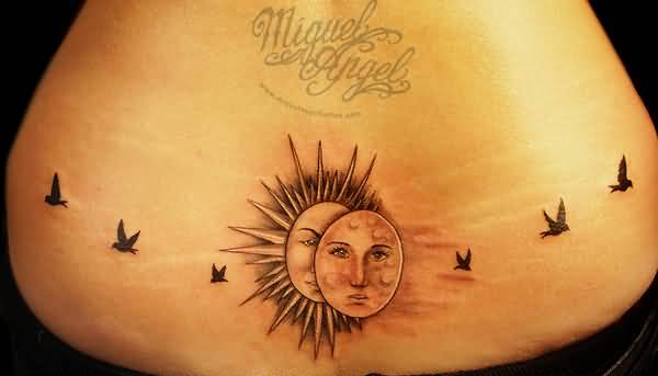 50 most incredible sun tattoo design pictures and images. Black Bedroom Furniture Sets. Home Design Ideas