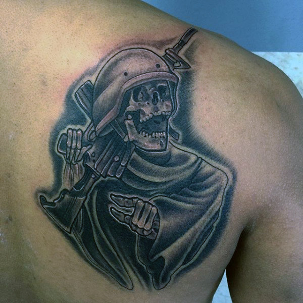 Beautiful Tattoos Army Adorable Dog - Soldier-Skeleton-Military-Tattoo-On-Back-Shoulder  Gallery_98369  .jpg