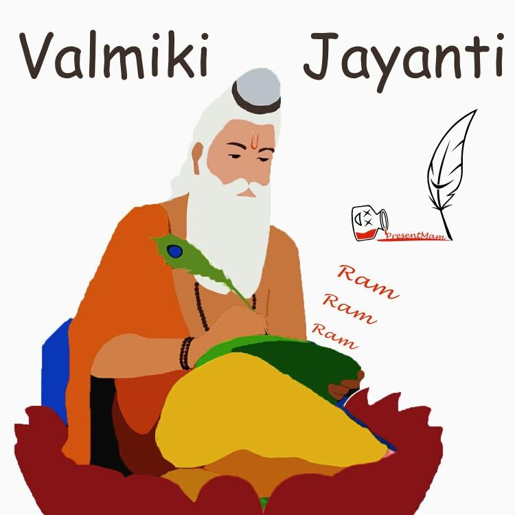Valmiki Jayanti Wishes Illustration