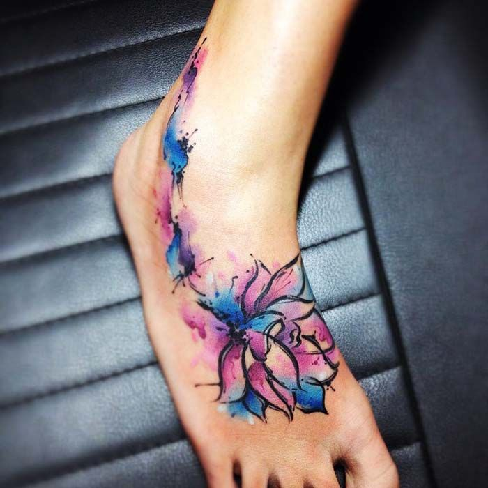 Watercolor Flower Tattoo: 80 Best Watercolor Tattoo Design Ideas