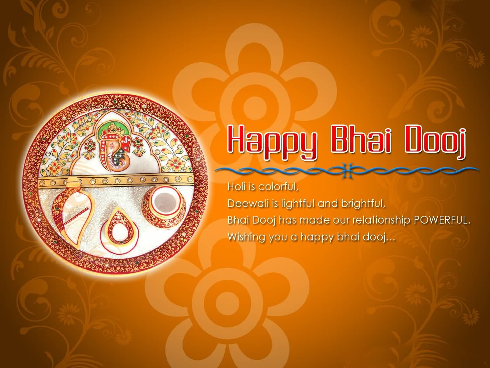 50 most beautiful bhai dooj wish pictures and images wishing you a happy bhai dooj greeting card kristyandbryce Images