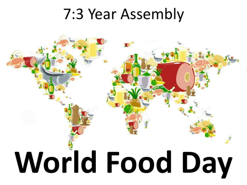 world food day world map in background