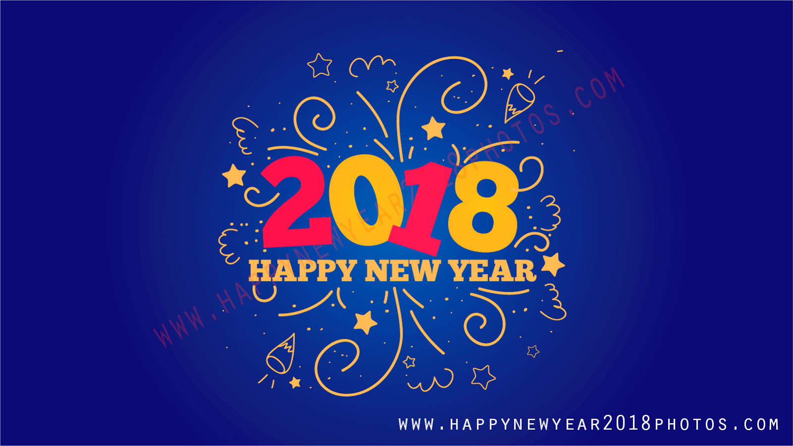 2018 happy new year beautiful card