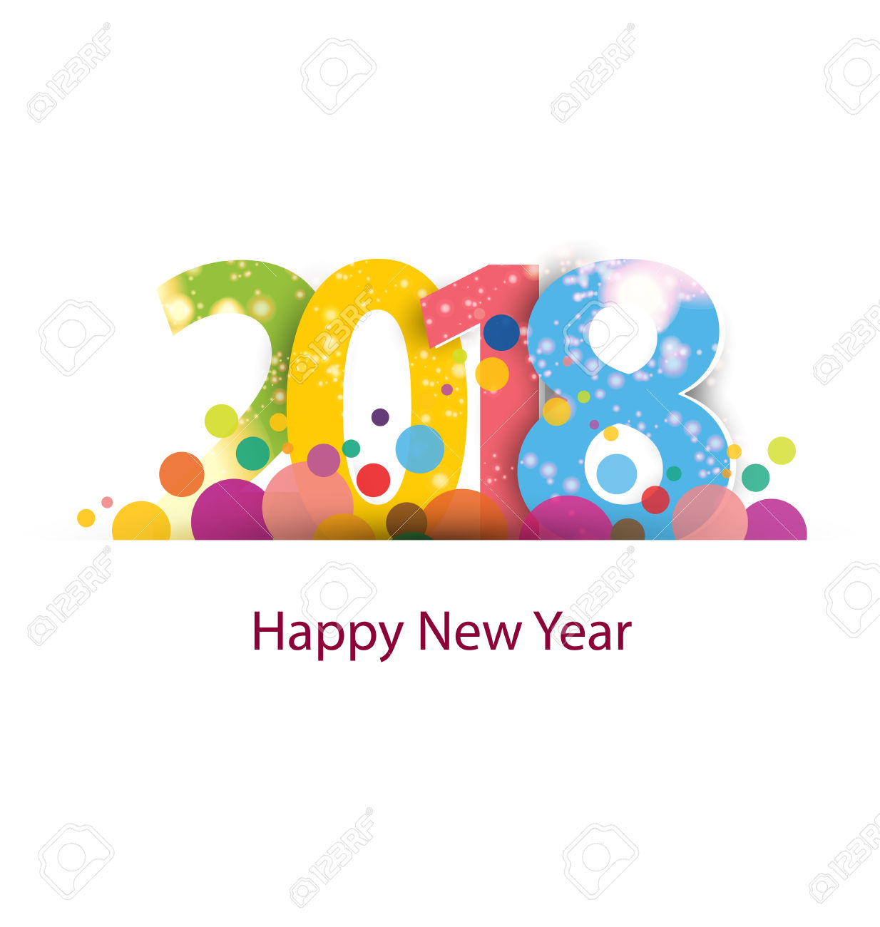 2018 Happy New Year Wishes Ecard