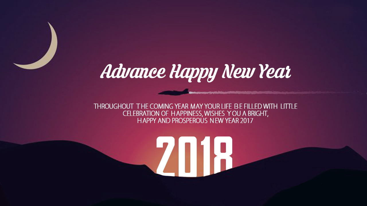 Advance Happy New Year Throughout The Coming Year May Your Life Be
