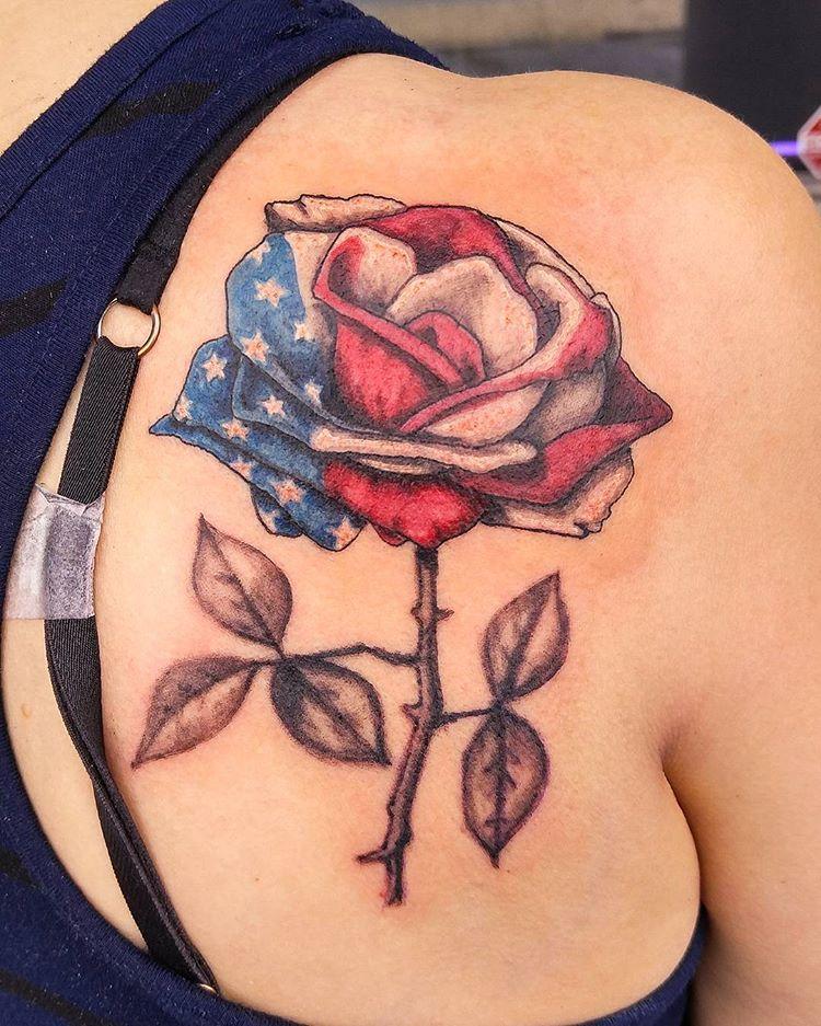50 most beautiful flag tattoo design ideas. Black Bedroom Furniture Sets. Home Design Ideas