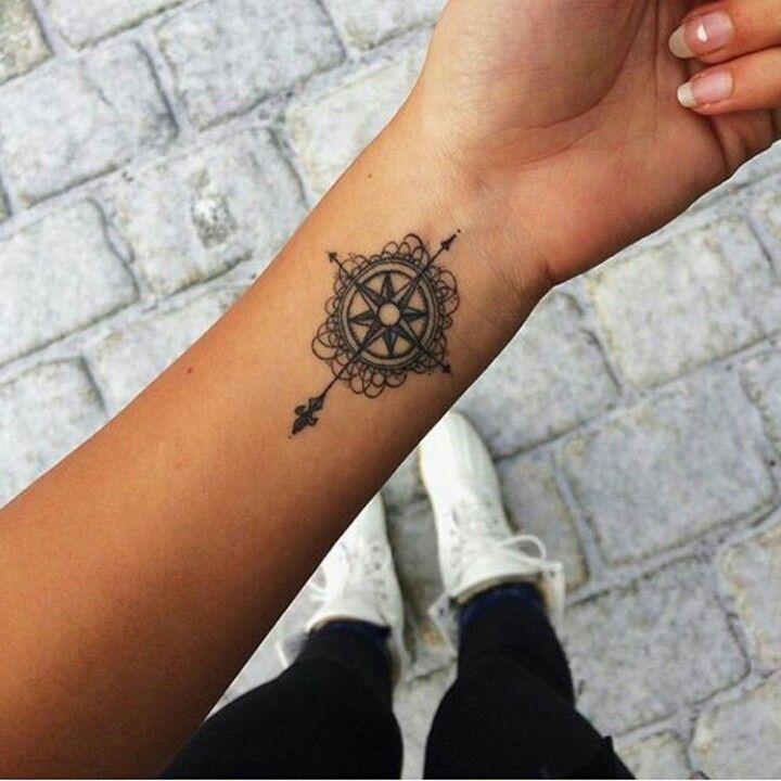 Small Compass Rose Tattoo