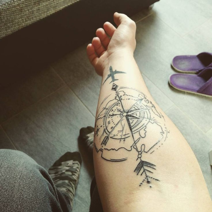 Forearm Compass Tattoo: 101+ Best Travel Tattoo Designs And Ideas