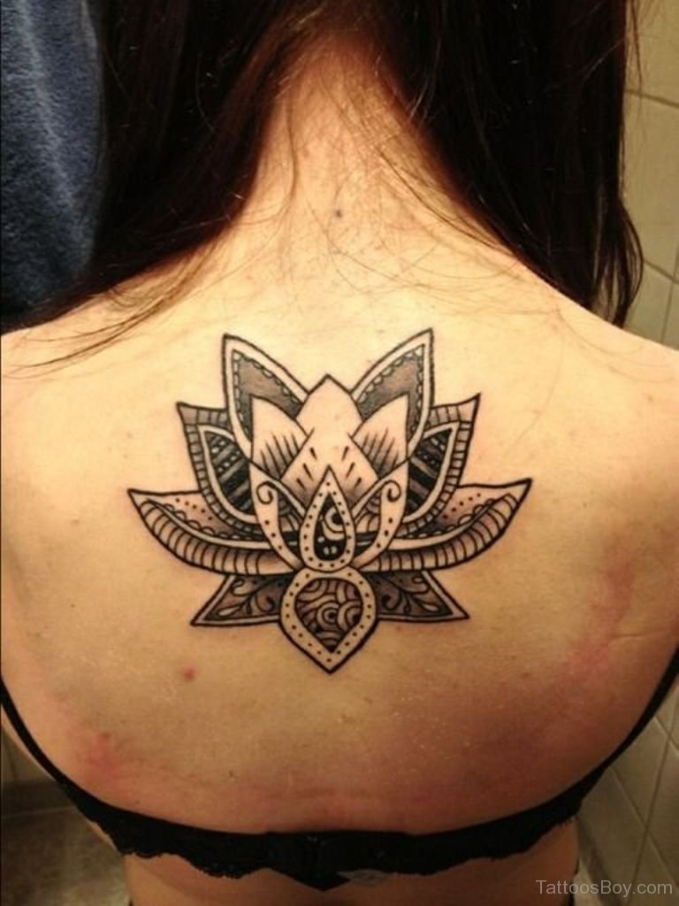 70 best lotus flower tattoo design ideas black and white tribal lotus tattoo on back izmirmasajfo