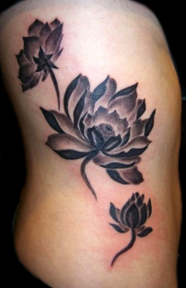 70 best lotus flower tattoo design ideas. Black Bedroom Furniture Sets. Home Design Ideas