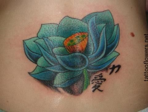 Blue lotus flower tattoo design mightylinksfo