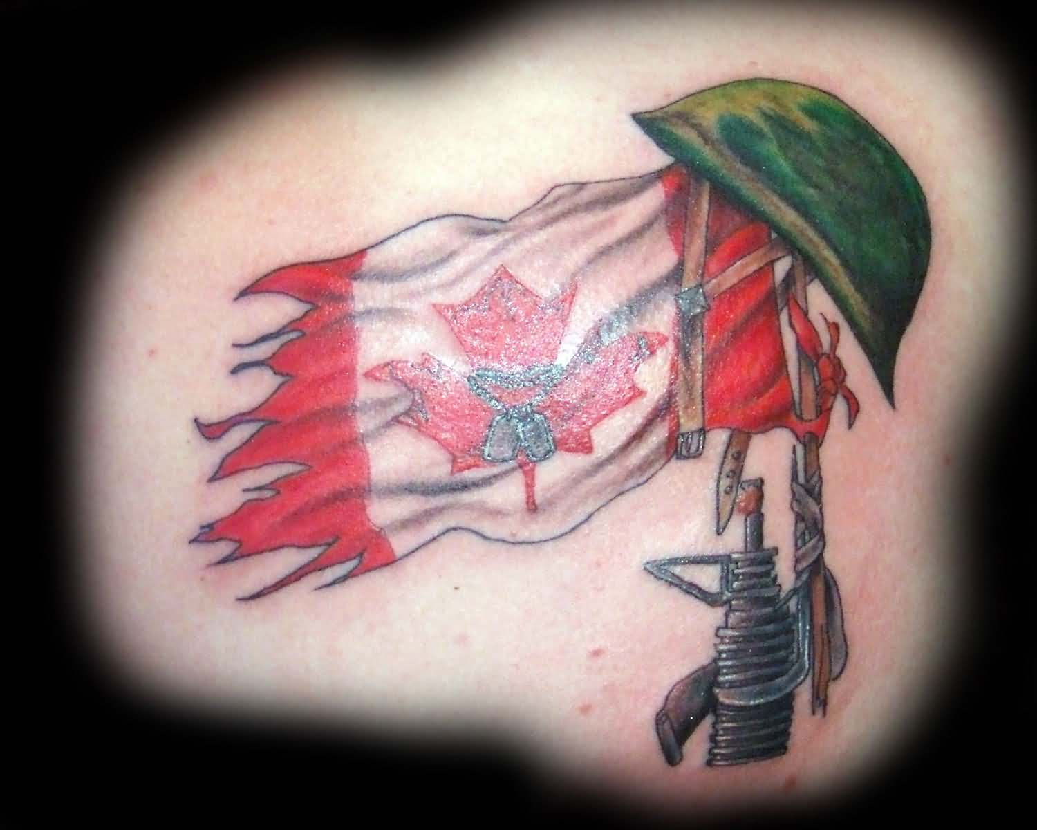50 most beautiful flag tattoo design ideas