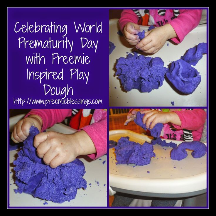 Celebrating World Prematurity Day With Preemie Inspired Play Dough