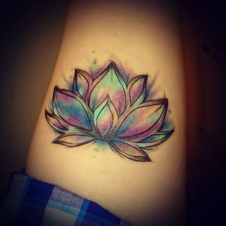 Colorful lotus tattoo design idea mightylinksfo