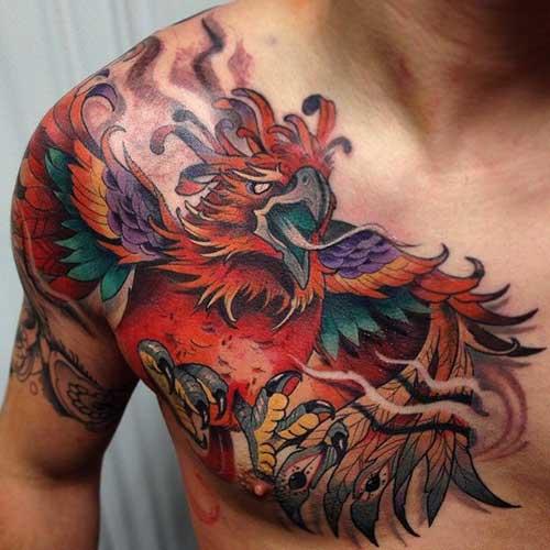 50 amazing phoenix tattoo design pictures. Black Bedroom Furniture Sets. Home Design Ideas