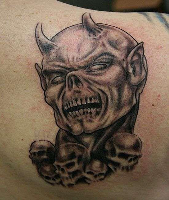 evil devil tattoos images galleries with a bite. Black Bedroom Furniture Sets. Home Design Ideas