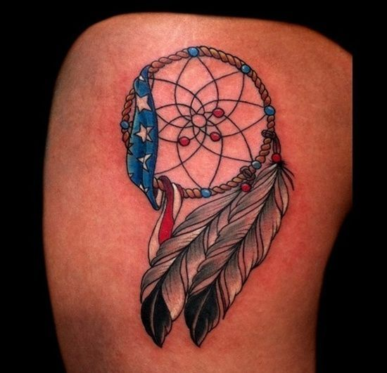 50+ Most Beautiful Flag Tattoo Design Ideas