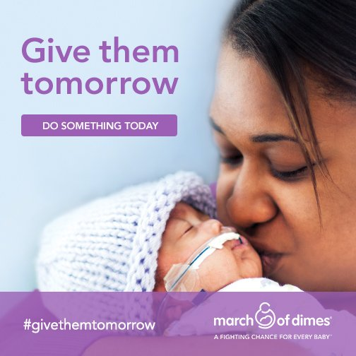 Give Them Tomorrow Do Something Today World Prematurity Day